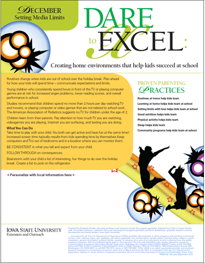 Dare to Excel newsletter - December